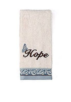 Saturday Knight Blessings Ivory Blue Tip Towel Hope
