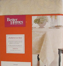Better Homes and Gardens Medallion Damask Cream Mist 52x70 tablecloth