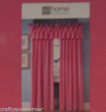 Pink Ice Velvet Flocked Tie Top Jubilee Curtain Valance