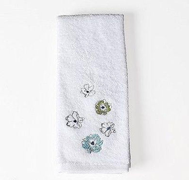Saturday Knight Roberto Floral Blues Greens Hand Towel