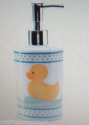 Blonder Home Ducks In A Row Rubber Ducky Soap Lotion Pump Dispenser