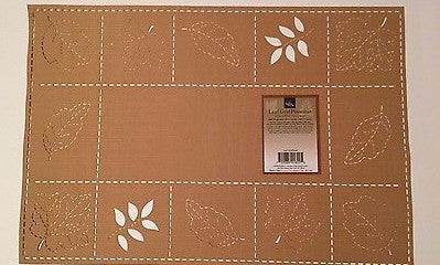 Placemats Set of 4 Leaf Grid Sam Hedaya Homewear 13