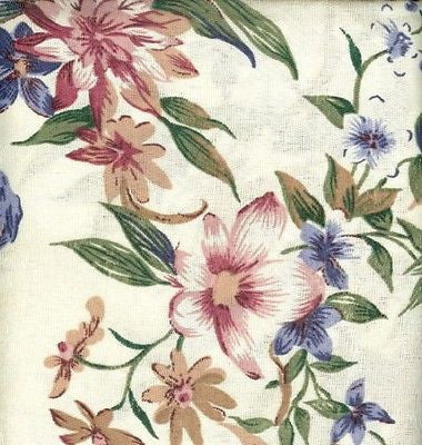 Galaxy Pink Blue Floral Tailored Curtain Valance