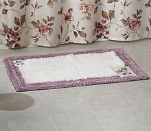 Dream Garden Lilac Floral Saturday Knight Bath Mat Rug