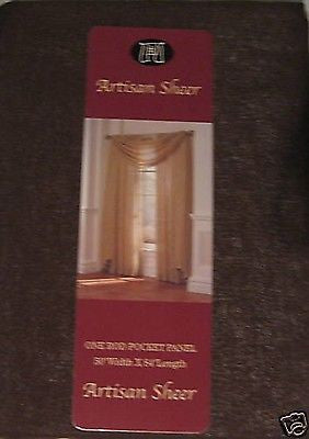 Artisan Chocolate Brown Sheer 84L Curtain Panels Set of 2