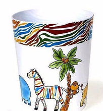 Saturday Knight Safari Palm Tree Zebra Hippo Wastebasket