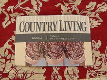 Country Living Lenox Floral Stripe Red 60w x 21l Valance
