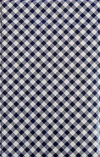 Elrene Blue Gingham Vinyl Flannel Tablecloth 60 inch Round