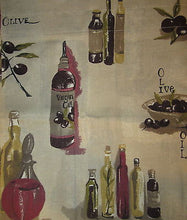 AL Ellis Olives Olive Oil Tuscany Tuscan Kitchen Curtains 56 x 36L Tier Curtains