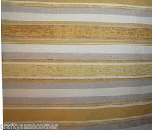Laura Ashley Hydrangea Yellow Grey Floral Stripes 13 x 72 Fabric Table Runner