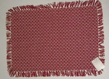 Country Classics Homespun Cotton Placemat 13 x 10 Red Hand Knotted