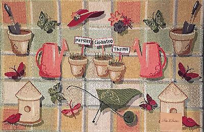Park B Smith Herb Garden Tapestry Placemats Set of 4