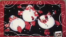 Blonder Home Roly Poly Snowmen Bath Rug