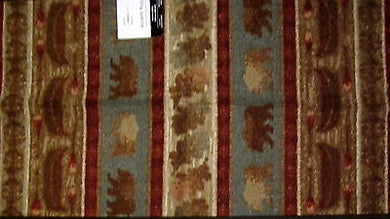 Canoes Bears Leaves Wilderness Lodge Area Rug Mat 19.5x34 Woodland