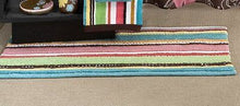 Bath Mat Rug Kaleidoscope Multi colored Stripes Saturday Knight