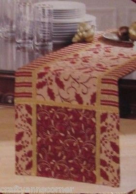 Tapestry Table Runner 13 x 72 Holly Vines Christmas Holiday