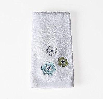 Saturday Knight Roberto Floral Blues Greens Fingertip Towel