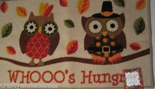 Kitchen Mat Rug Harvest Autumn Whoo's Hungry Owl Pilgrims Rectangle 20X33.5