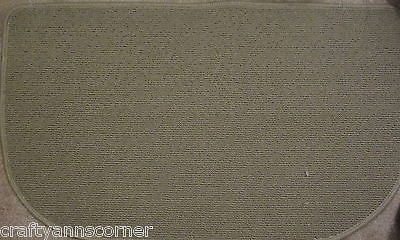 Solid Tan Sandstone Oatmeal Kitchen Slice Accent Mat Rug 18 x 30