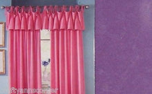 Jubilee Purple Velvet Flocked Tie Top Curtain Valance