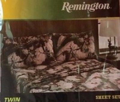 Brittany Woods Twin Sheet Set Pink Camo Camouflage Remington