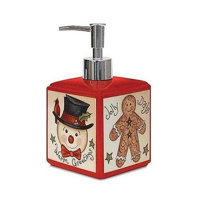 Blonder Home Linda Spivey Twelve Days of Country Christmas Soap Lotion Dispenser
