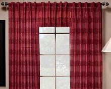 Saturday Knight Ltd Gossamer Semi Sheer Back Tab Valance only Mulberry