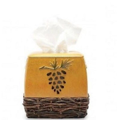 Tissue Box Cover Blonder Home Northern Pine Lodge Rustic Log Cabin Bath