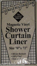 The Classic Touch Magnetic Vinyl Shower Curtain Liner Beige