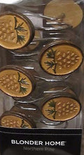 Blonder Home Northern Pine Shower Curtain Hooks Cabin Lodge Pinecones Woodland