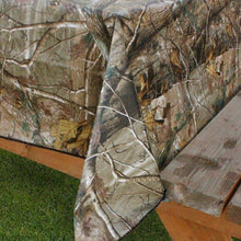 "Realtree Ap Camouflage Peva vinyl flannel back tablecloth 60"" Round"