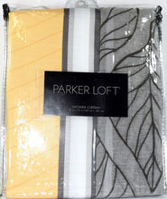 Parker Loft Catalina Fabric Shower Curtain Yellow Gray