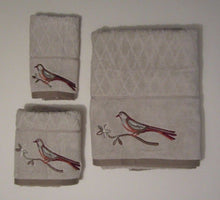 Songbird Bath Hand Fingertip 3 pc Towel Set