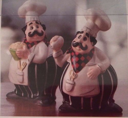 American Atelier Buon Appetitio Chef Salt and Pepper Shakers