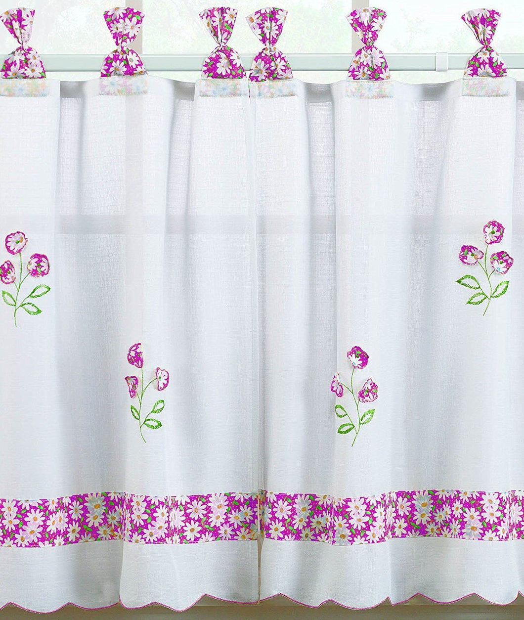 Oopsy Daisy 57 x 36 Tier Pair in Peony Pink