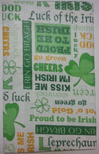 St Patrick's Day Irish Sentiments Sayings vinyl flannel back tablecloth 52 x 70