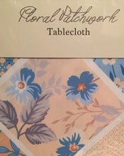 Floral Patchwork Yellow Blue Fabric Tablecloth 60 x 84 Oblong