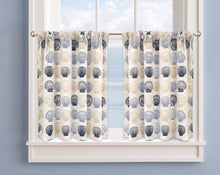 "Colordrift Cayman Seashell 36"" Tier Pair Kitchen Curtains Coastal"