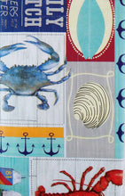 Elrene Daily Catch Boat Docks Patchwork Vinyl Flannel Tablecloth 52 x 90 Oblong