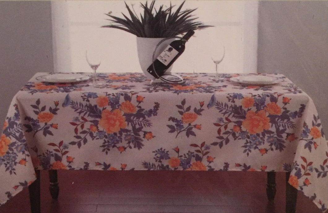Butterfly Flora floral Fabric Tablecloth 52 x 52