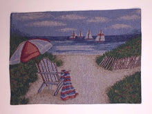 Adirondack Chair On Beach Tapestry Placemats Set of 4