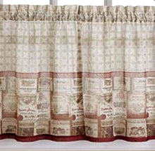 Merlot Wine Tuscan Kitchen Curtain Tier Set Valance or Swags Chef