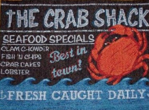 Crab Shack Tapestry Placemats Set of 4