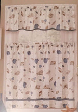 "EHS Nautical Nautilis Cove Seashells 36"" Tier and Valance Set"
