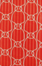 "Elrene Red Nautical Ropes Vinyl Flannel Back Tablecloth 52"" x 70"""