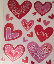 Love Hearts Valentine's Day Window Clings
