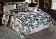 Wilderness Camp 10 Piece Twin Comforter Set Woodland Cabin Bear Deer Northwoods