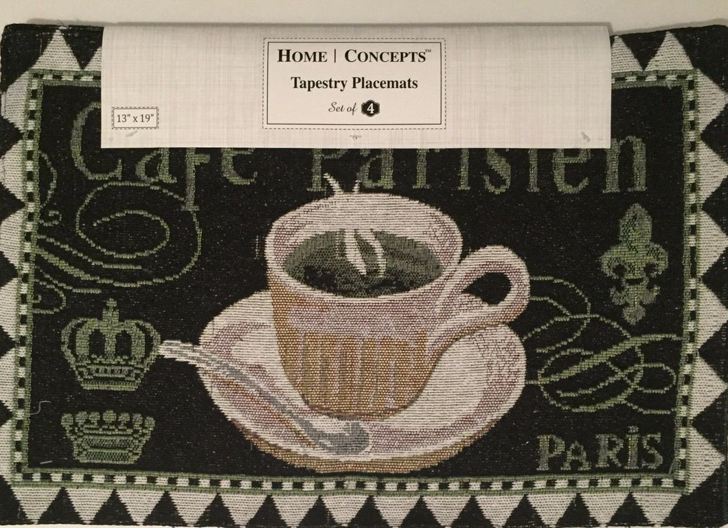 Cafe Parisien Paris Tapestry Placemats Set of 4