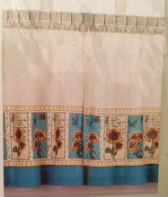 CHF Sunflower Postcard Tailored Tiers Kitchen Curtain 24L