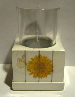 Blonder Home Jane Shasky Sweet Sunflowers Violets Butterflies 2 pc Tumbler Cup